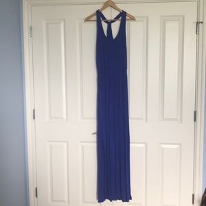 Striking blue maxi dress